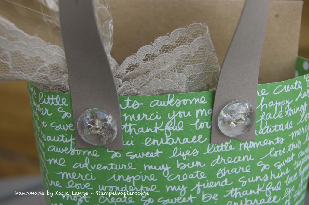 Kleine Tasche mit dem Gift Bag Punch Board von Stampin' Up!