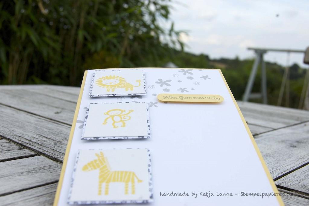 Babykarte mit den Zoo Babies 1