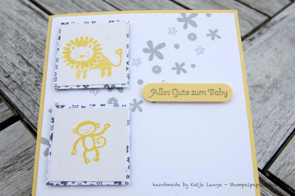 Babykarte mit den Zoo Babies 2