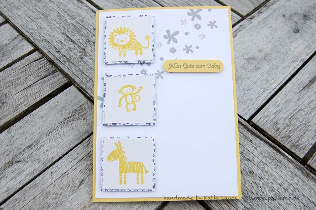 Babykarte mit den Zoo Babies 3