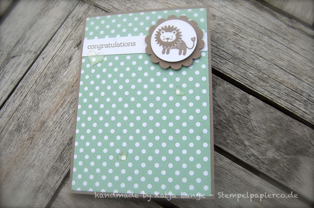 Babykarte und -gutschein mit den Zoo Babies2