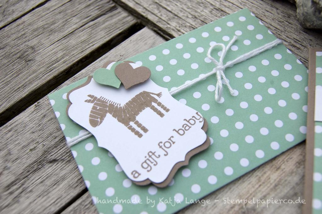 Babykarte und -gutschein mit den Zoo Babies4