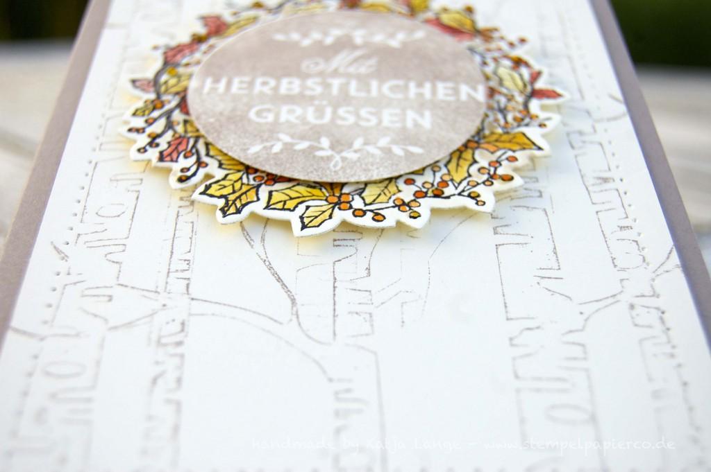 Karte mit Herbstkranz - Peaceful Wreath1 - Zwischen den Zweigen