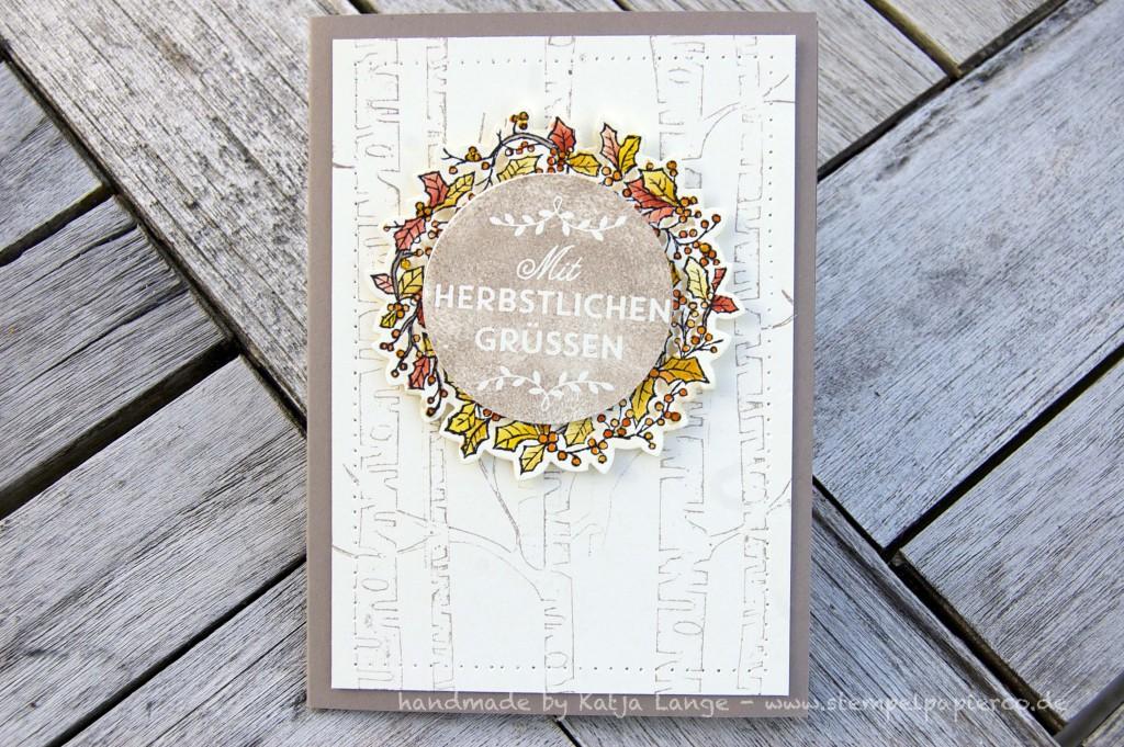 Karte mit Herbstkranz und Peaceful Wreath2