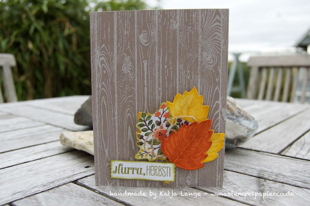 Herbstkarte mit Produkten von Stampin' Up!1