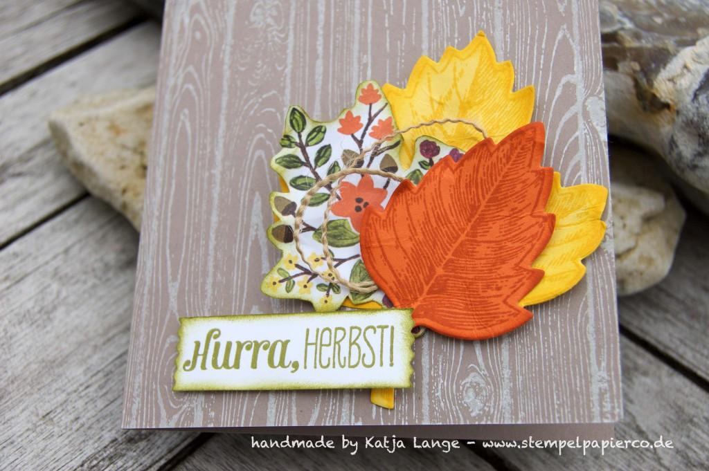 Herbstkarte mit Produkten von Stampin' Up!2