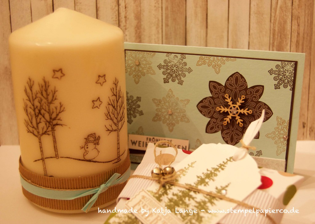 Workshop Projekte Pillowbox - Weihnachtskarte - Kerze1