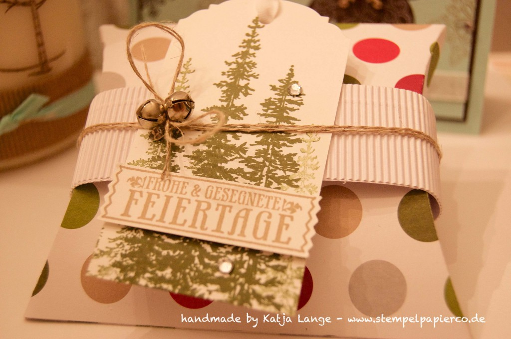 Workshop Projekte Pillowbox - Weihnachtskarte - Kerze2