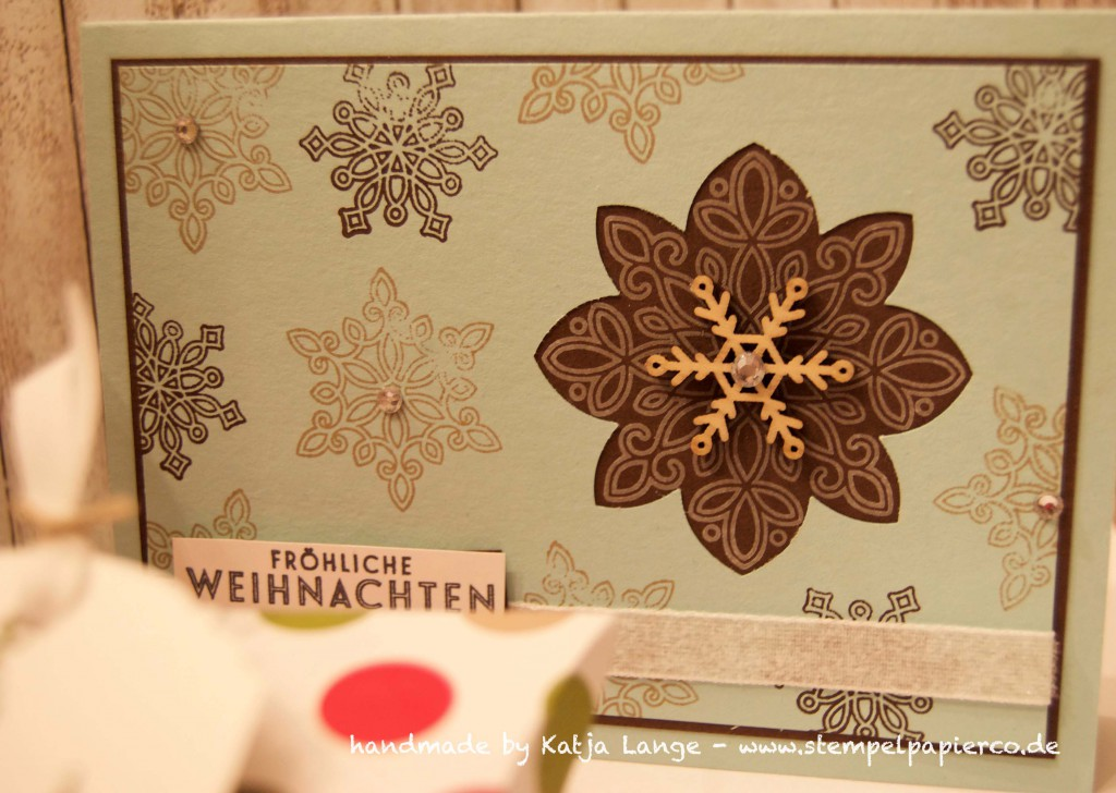 Workshop Projekte Pillowbox - Weihnachtskarte - Kerze3