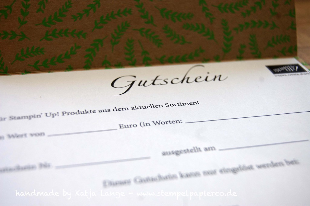 Gutschein Stempel, Papier & Co.