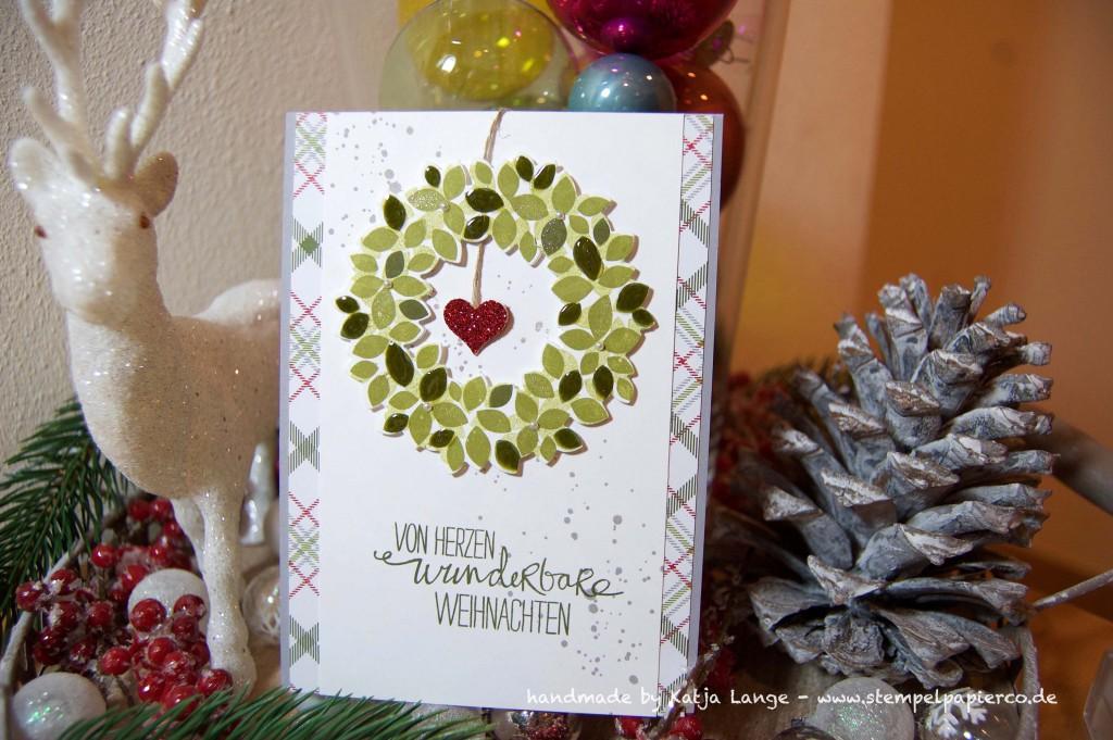 Weihnachtskarte mit dem Set Willkommen Weihnacht von Stampin' Up!3