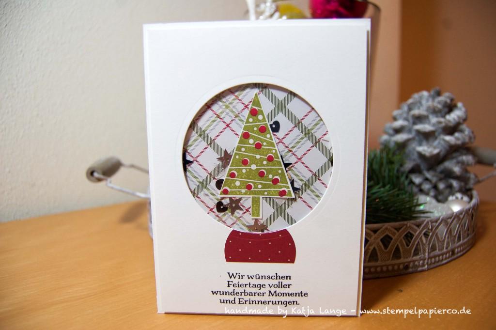 weihnachtliche Schüttelkarte mit Produkten von Stampin' Up!1