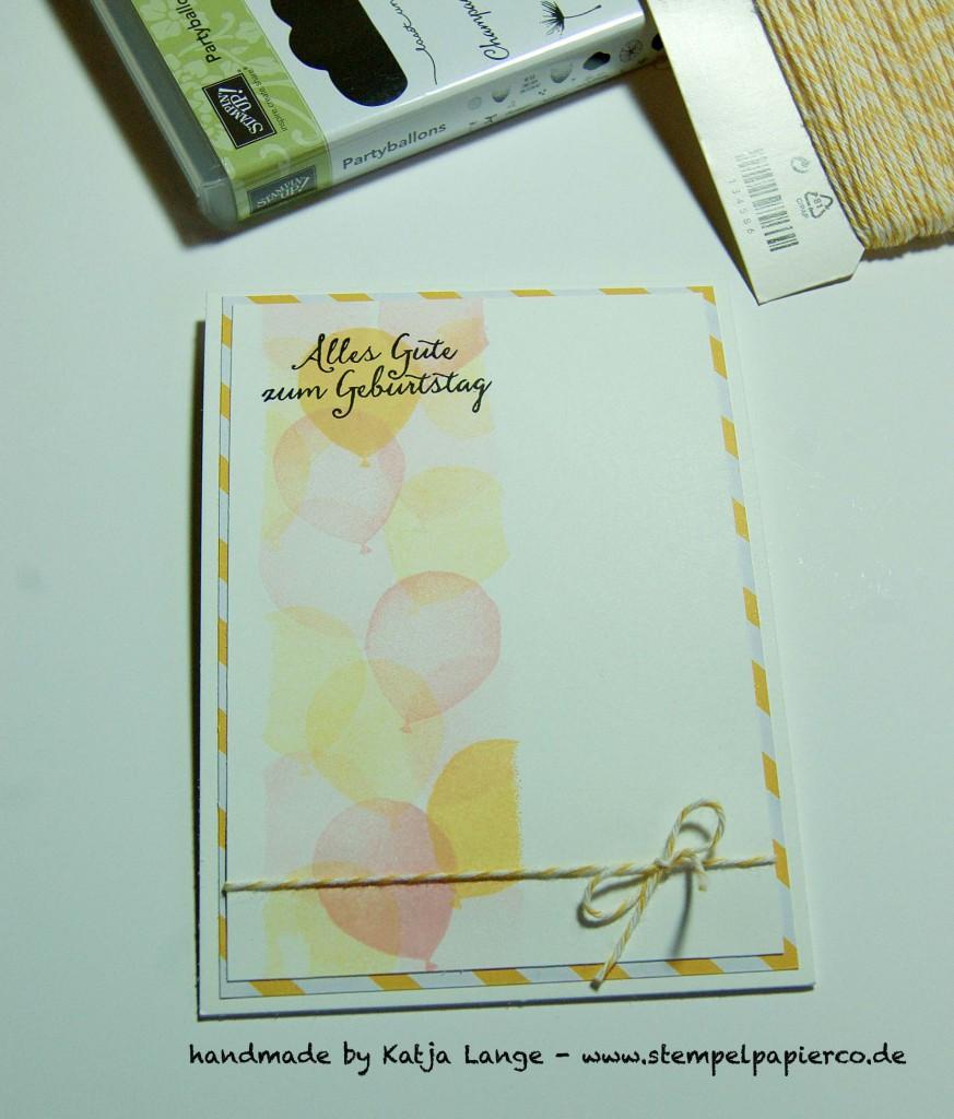 Glückwunschkarte mit dem Set Partyballons von Stampin' Up!2