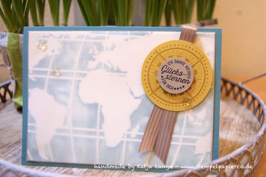 Weltkarte mit Prägefolder 2