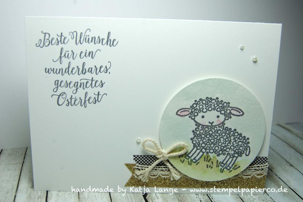Karte mit Easter Lamb von Stampin' Up!1