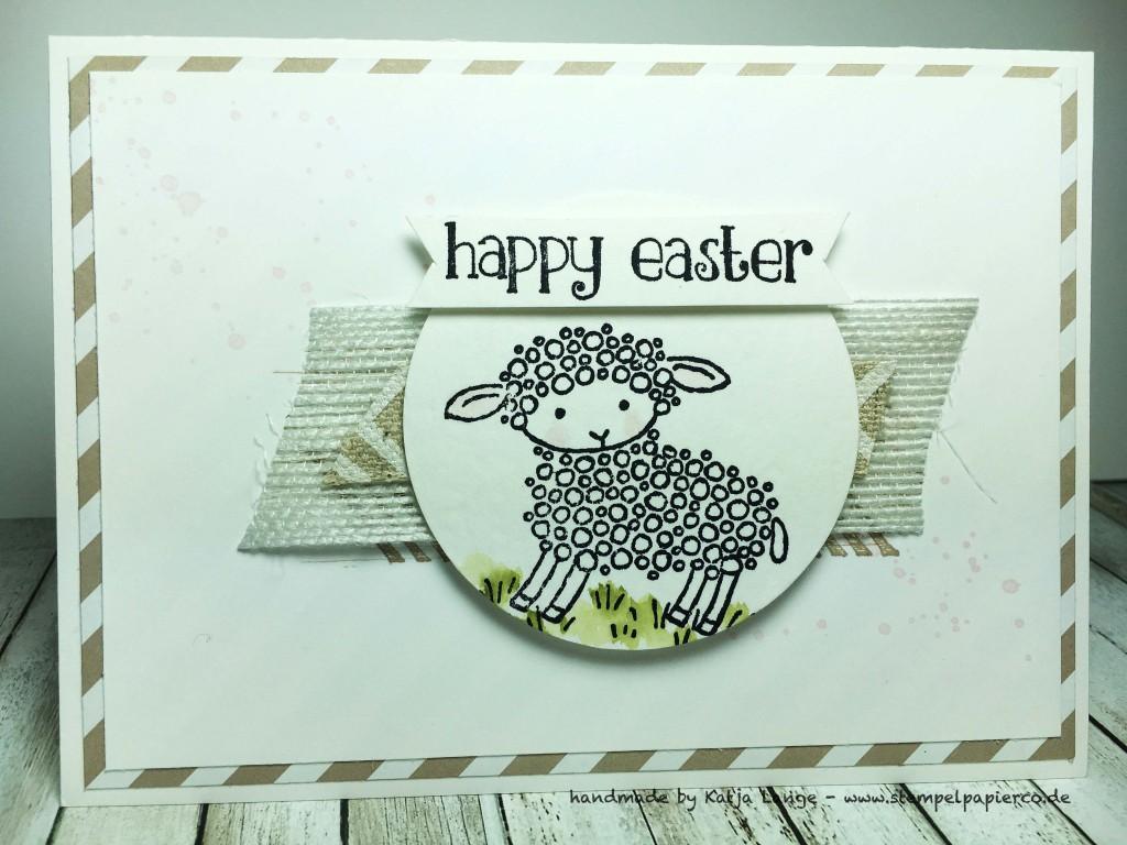 Osterkarte mit Easter Lamb und Produkten von Stampin' Up!1