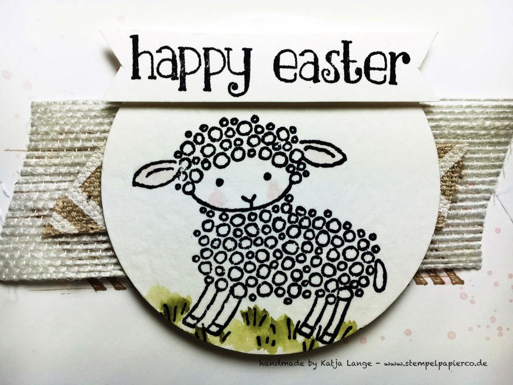 Osterkarte mit Easter Lamb und Produkten von Stampin' Up!2