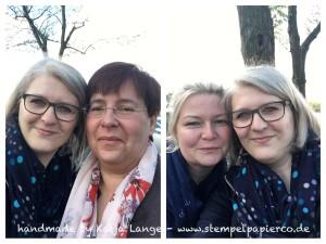 Katja mit Renate und Tanja in Düsseldorf