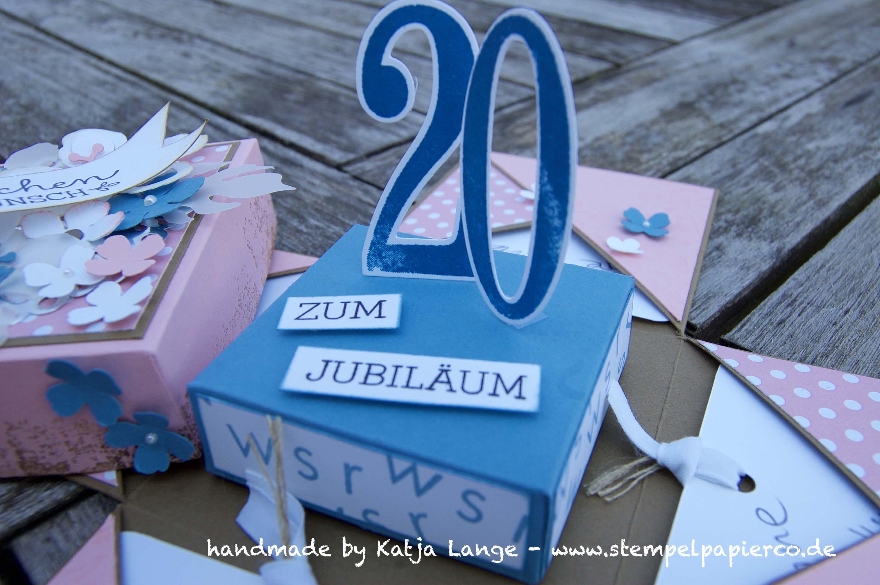 Explosionsbox zum Jubiläum mit Produkten von Stampin' Up!1