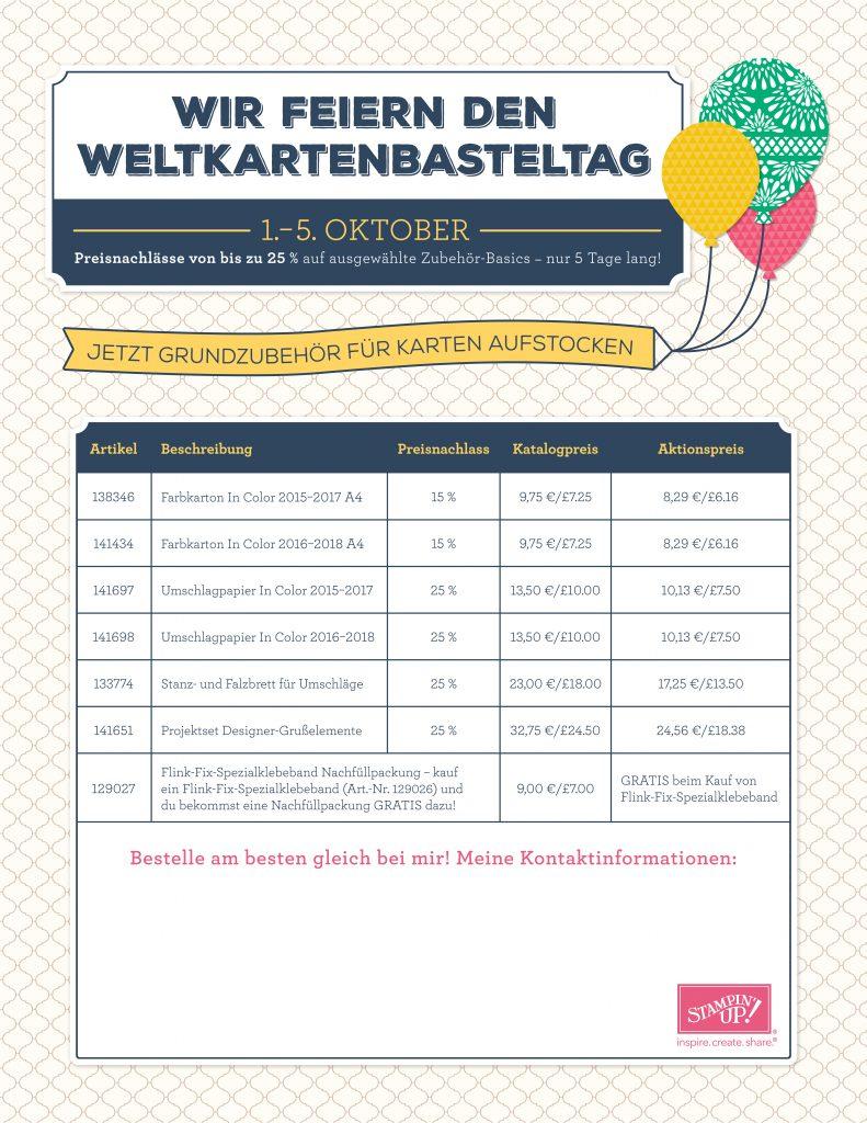 Aktion zum Weltkartenbasteltag 2016