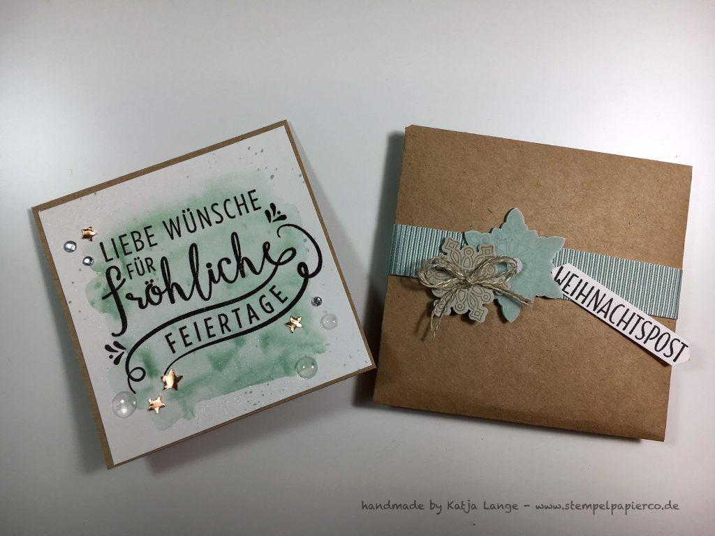 Weihnachtskarten mit Flockenzauber / Zur schönsten Zeit und Stampin' Up!
