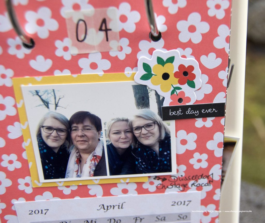 Familienkalender im Bilderrahmen – Stempel, Papier & Co.